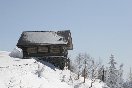 winter shack photo