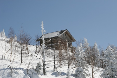 snow shack Stock Photo - 9376212
