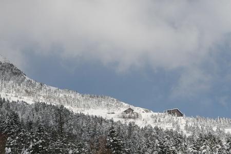 snow winter hut Stock Photo - 9392034