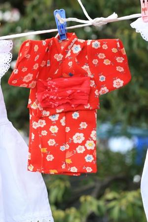 specific clothing: Japanese kids kimono Stock Photo