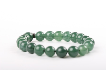 isolated jade necklace photo