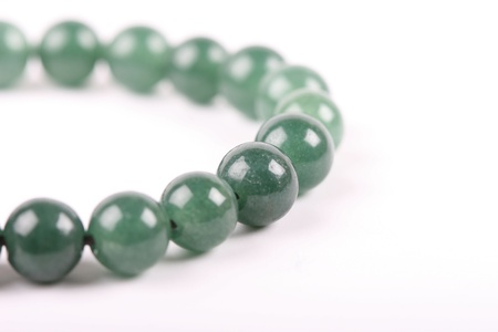 isolated jade necklace