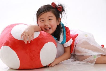 beautiful Chinese girl studio shot photo