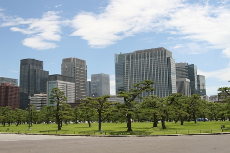 filming point of view: Tokyo modern building