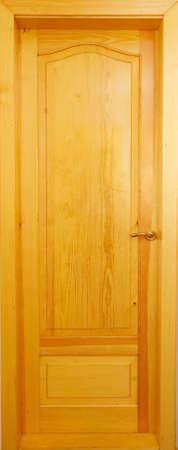 Interroom wooden door from a pine photo