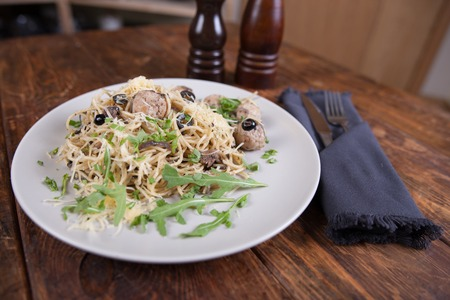 alcaparras: pasta with anchovies capers and black olives
