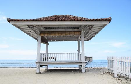 Tropical sandy beach in a sea. Gili Trawangan, Indonesia