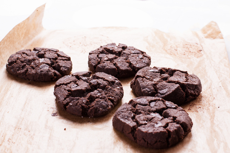 Close up of chocolate cookies. Stock image. 版權商用圖片