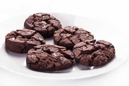 Close up of chocolate cookies. Stock image. Foto de archivo