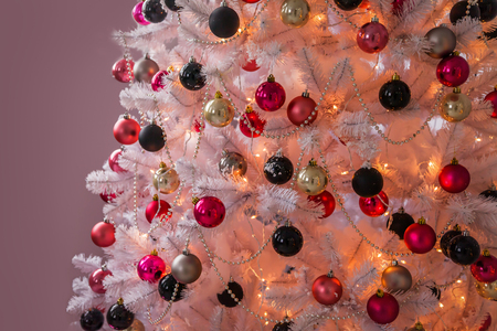 well-dressed Christmas tree Stock Photo