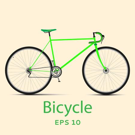 racing bicycle: Speed racing bicycle Illustration