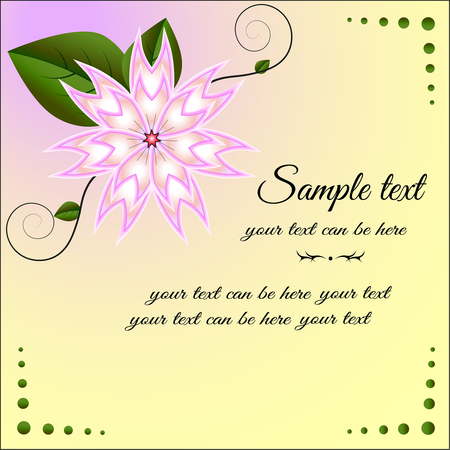 felicitate: Bright, colorful decorative element in the form of a flower with pink petals. Can be used as greeting cards for all kinds of celebrations, wedding invitation.