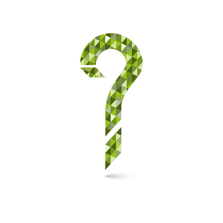 questionably: Geometric question mark icon. Help simbol. FAQ sign on a white background.