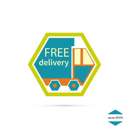 free delivery: Icon Free delivery,  free shipping.  Vector illustration