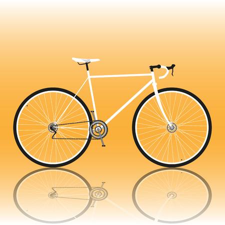road bike: Road bike. Vector illustration
