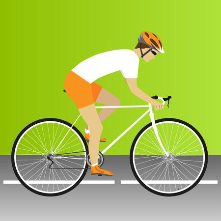 bicicleta vector: Bici, camino, raza de la bici, ciclo, bicicleta, carrera de bicicleta de carretera. Ilustración vectorial