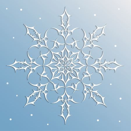 desig: Snowflake decorative element to create different desig