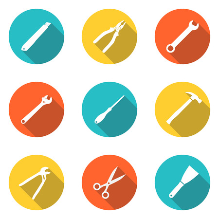 hardware tools: Collection icons  hand tool.