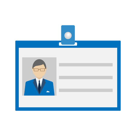 photo card: ID Card Icon  flat style. Vector illustration