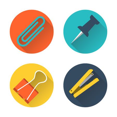 paper clip: paper clip icon. Flat design. Vector illustration