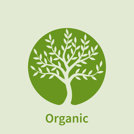 growing business: logo tree, green circle. Plant, nature, ecology. Growing business concept Vector logo design template.