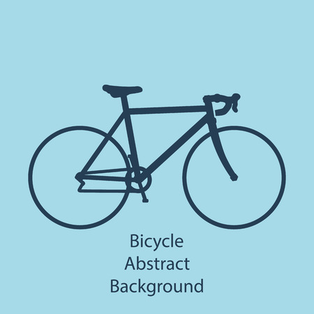 bicycle race: Bike background,  isolated, abstract vector illustration. Illustration