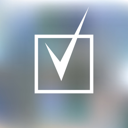checkboxes: checkboxes, notes, questionnaires, consent, voting choice. icon agreement. blurred background. Vector illustration Illustration