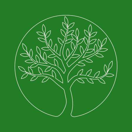growing business: logo line tree. Plant, nature, ecology. Growing business concept. Abstract vector logo design template