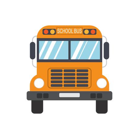 niño escuela: Autobús escolar. Ilustración vectorial