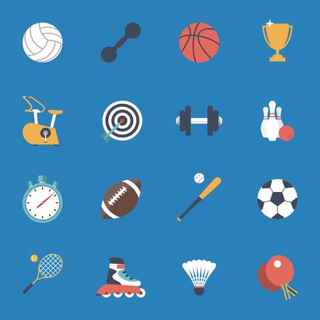 voleibol: Iconos del deporte fijadas. fútbol, ??baloncesto, rugby, gimnasio, bolos, béisbol, tenis, voleibol, pesas. Web y aplicaciones móviles. Vector
