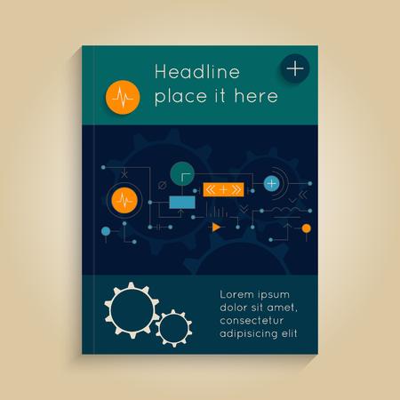 portadas de libros: Cubierta abstracta con los sistemas tecnológicos. folleto del vector, diseño de informes, folleto, plantilla de diseño. Resumen de antecedentes de la tecnología Vectores