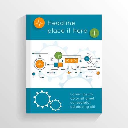 portadas de libros: folleto extracto moderno, diseño de informes, folleto, plantilla de diseño. Cubierta abstracta con los sistemas tecnológicos. ilustración vectorial