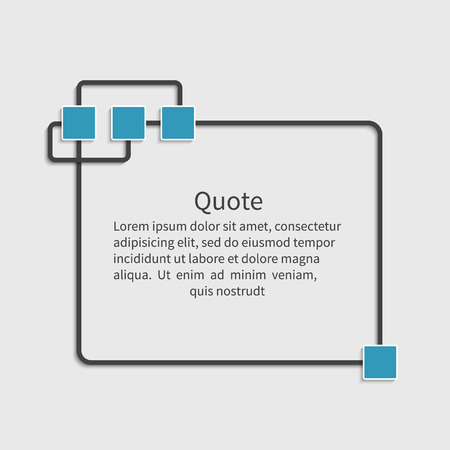 citing: Quote blank template. Dialog box. Design element for message, information, comment, note, text, motivation,  etc. Empty template.  Vector illustration.