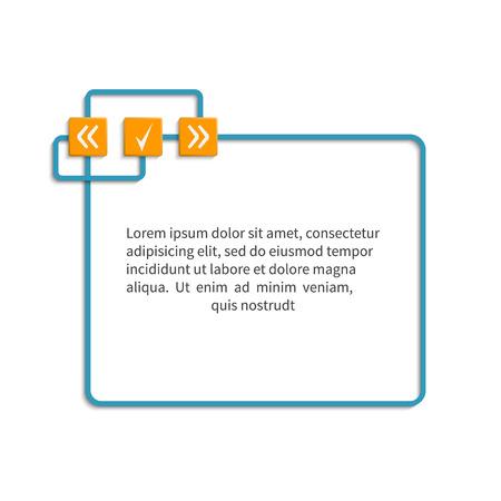 text box design: Text box. Design element for message, information, comment, note, text, motivation,  etc. Empty template.  Vector illustration.