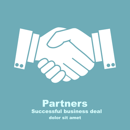 businessmen shaking hands: handshake businessman agreement. Vector illustration flat style. shaking hands. symbol of a successful transaction