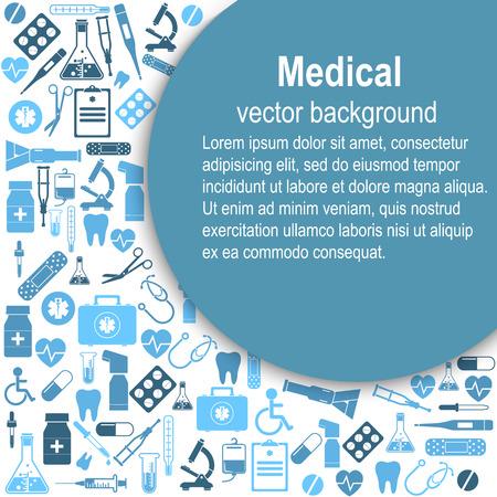 medical illustration: Medical background Illustration
