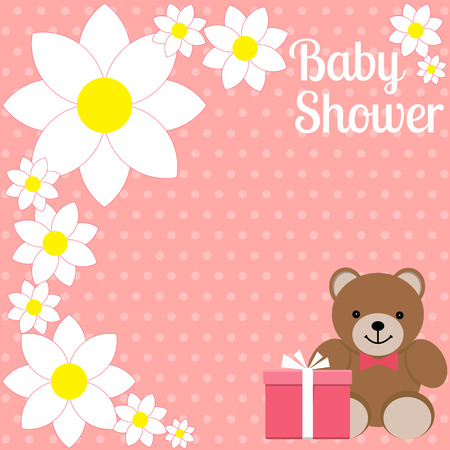 baby shower girl invitation card place for text greeting