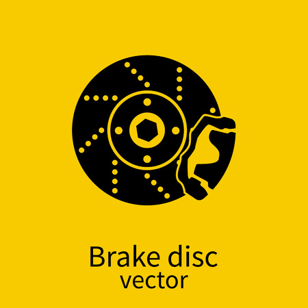 car brake: Car brake discs icon. Car parts. Vector illustration.