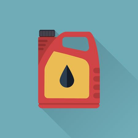 barril de petróleo: Aceite de motor. latas icono de aceite del motor. Ilustración del vector, estilo plano. Concepto de servicio y reparación. recipiente de aceite del motor. Vectores