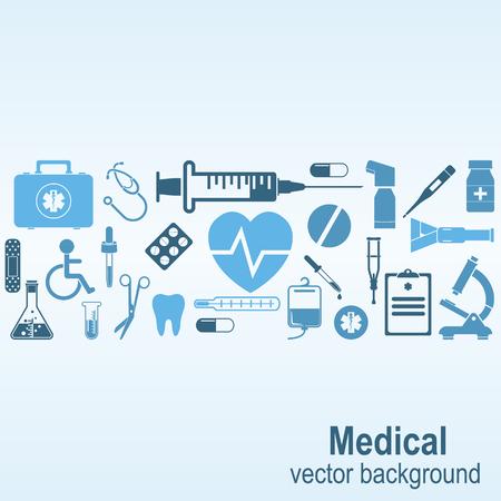medical illustration: Medical background. Vector Illustration Illustration