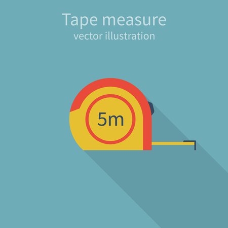 centimeter: Tape measure, icon, isolated, centimeter. colorful, style flat design. Vector illustration. Illustration