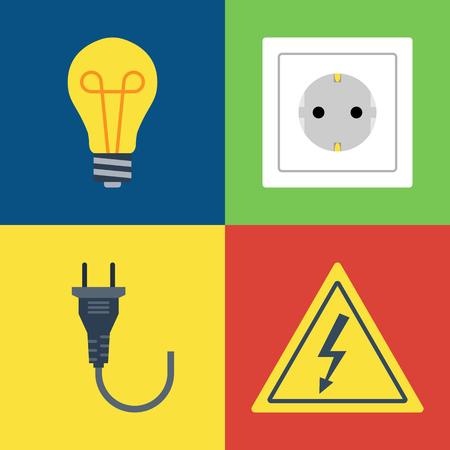 gloeilamp, contactdoos, stop, elektriciteit