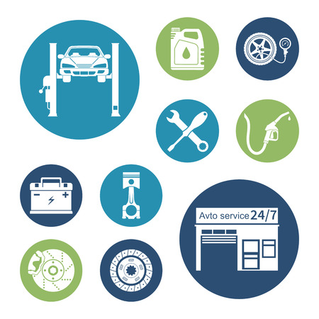 auto service: Auto icon vector. Car service maintenance icon. Illustration
