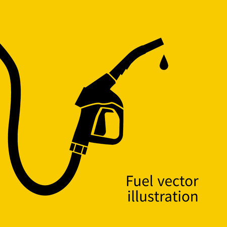 Fuel pump. Petrol station sign. Gas station sign. Gasoline pump nozzle. Fuel background. Vector illustration. Gasoline pump with drop. Fuel pump icon. Ilustração