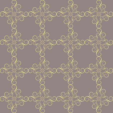 Seamless abstract pattern. Elegant victorian texture in damask style. Vector illustration. Can be used for wallpaper, textiles, wrapping paper, page fill, design, web page, background. Illustration