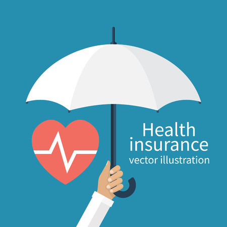 white person: Health insurance concept.