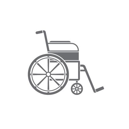 paralyze: Wheelchair Icon. Medical icon.