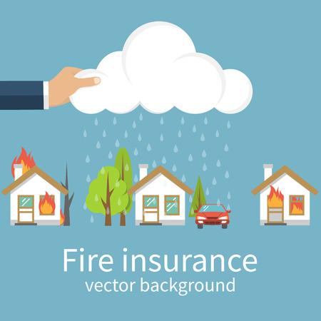 Fire insurance concept.
