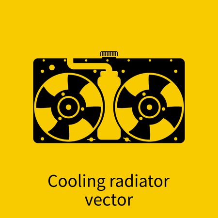 coolant: Car radiator icon. Illustration