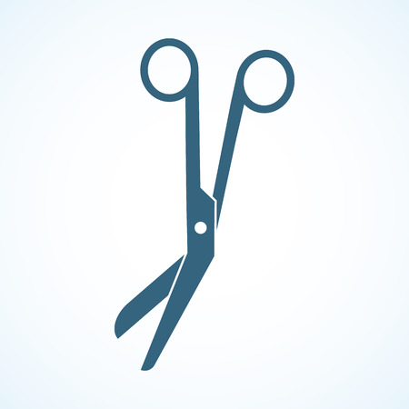 medical equipment: Medical scissors. Medical equipment. Isolated scissors icon in the background.
